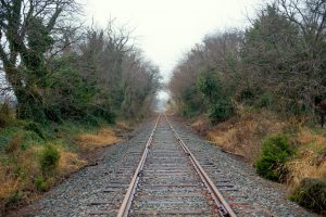Train track in Fall