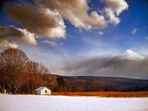 Snow on Barn